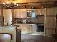 Kuchyň s veškerým vybavením - srub ubytování Těchonín - Celné