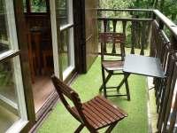 posezení na balkóně - chata ubytování Klášterec nad Orlicí - Zbudov
