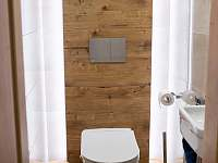 samostatné WC - pronájem chalupy Červená Voda - Šanov
