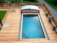 vyhřívaný bazén 28°C - chalupa k pronajmutí Červená Voda - Šanov