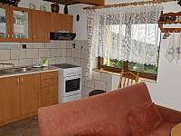 Kuchyně - chata ubytování Čenkovice