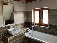 koupelna patro - pronájem chalupy Říčky v Orlických horách