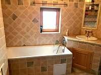 koupelna přízemí - chalupa ubytování Říčky v Orlických horách