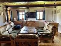 obývací pokoj - pronájem chalupy Říčky v Orlických horách