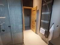Koupelna 1 (pokoje 1-3) - roubenka k pronajmutí Rokytnice v Orlických horách - Panské Pole