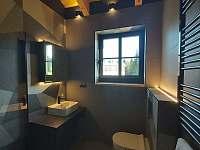Koupelna 2 (pokoje 1-5) - roubenka k pronájmu Rokytnice v Orlických horách - Panské Pole