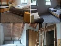 Pokoje v patře - pronájem roubenky Rokytnice v Orlických horách - Panské Pole