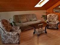 obývací pokoj-sezení, rozkládací sedačka - apartmán k pronájmu Horní Třešňovec