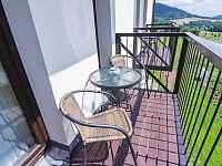 Balkon 1. patro - pronájem apartmánu Červená Voda - Mlýnický Dvůr
