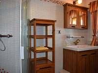Koupelna se sprchovým koutem a WC - Sněžné v Orlických horách