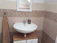 WC v horním patře - chata k pronájmu Dolní Morava