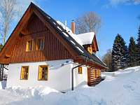 chalupa v zimě - Olešnice v Orlických horách