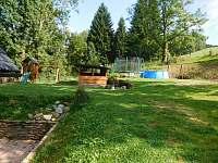 zahrada - pronájem chalupy Olešnice v Orlických horách