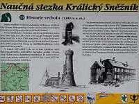 Informační tabule při cestě na Kralický Sněžník - Dolní Morava