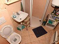 WC přízemí + sprchovací kout - srub ubytování Dolní Morava
