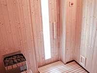 Chalupa Švýcarka- interiér nové sauny - k pronajmutí Olešnice v Orlických horách
