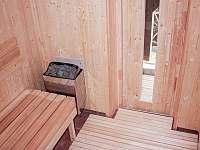 Chalupa Švýcarka - interiér nové sauny - Olešnice v Orlických horách