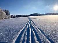 Olešnice v Orlických horách - zimní krajina 2021 -