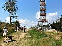 Rozhledna na Feistově kopci v Olešnici v Orlických horách -