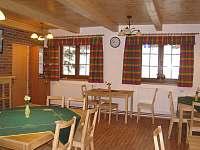 společenská místnost - chalupa k pronajmutí Sedloňov v Orlických horách
