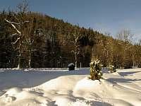 zasněžený pozemek - chata k pronajmutí Souvlastní