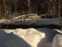 zásoba dřeva - pronájem chaty Souvlastní