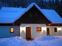 zimní noc - chata k pronajmutí Souvlastní