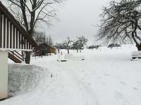 chalupa v zimě