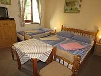 Pokoj 3 přízemí - 3 lůžka s koupelnou - manželská a lůžko - Apartmán