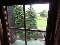 Pokoj 5 - 5 lůžek - pohled z okna