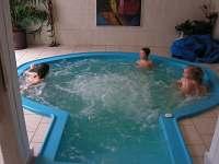 vyhřívaný bazén u vnitř objektu - voda 35 stupnů