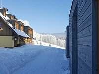 pohled od vchodu - apartmán ubytování Říčky v Orlických horách