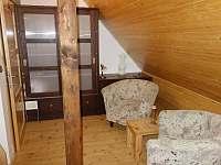 Posezení první patro ložnice s terasou