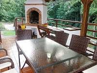 Zastřwšená veranda krb