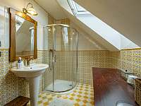 Chalupa Pěčín 25, koupelna se sprchovým koutem -