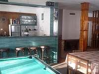 Bar ve společenské místnost - chalupa ubytování Červená Voda - Horní Orlice