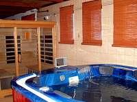 Relaxační místnost: vířivka, infračervená sauna