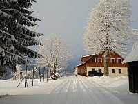 Začátek zimy 2021 - chalupa k pronajmutí Říčky v Orlických horách