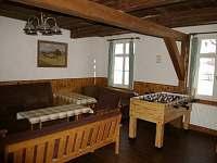 společenská místnost fotbálek - chalupa k pronajmutí Červená Voda - Moravský Karlov