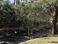 Řeka - pohled ze zahrady - Těchonín