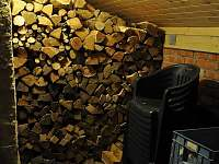 dřevník - pronájem chalupy Olešnice v Orlických horách
