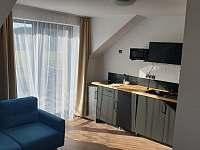 kuchyň v černém apartmánu - k pronajmutí Králíky - Horní Lipka