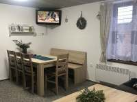 Obývací pokoj - pronájem chaty Čenkovice