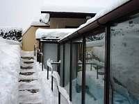 zimní pohled - pronájem chaty Javornice