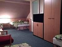 Pětilůžkový pokoj v patře - pronájem vily Pastviny
