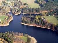 Pohled na přehradu - vila k pronajmutí Pastviny