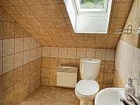 WC + sprcha - pronájem chalupy Souvlastní