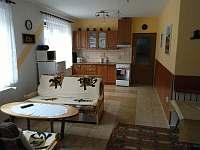 APT 1 obývací místnost + kuchyňský kout - apartmán k pronajmutí Orličky - Čenkovice