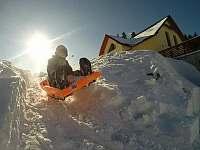 U Krejčích zima - rekreační dům k pronájmu Deštné v Orlických horách