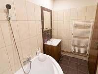 Horní koupelna - pronájem rekreačního domu Dolní Lipka